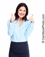 Happy business woman. - Happy smiling business woman....