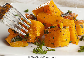 Homemade Baked Sweet Potato against a background