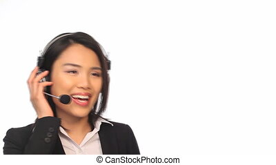 Call Center Agent - Portrait of beautiful smiling Call...