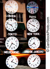 New york time - Time in different parts of the world on...