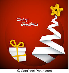 Simple vector red christmas card illustration