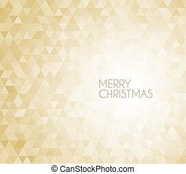 Golden retro vector Christmas background
