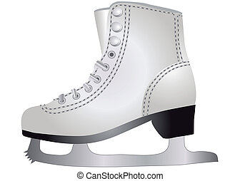 ice skates isolated on the white backgroound