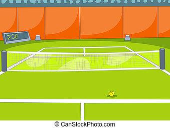 Tennis Court Vector Illustration Cartoon Background EPS 10...