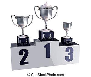 Podium trophies