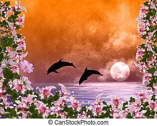 Tropical marine exotic sunset