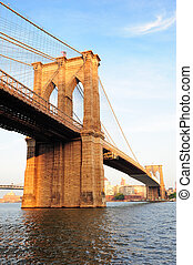 New York City Manhattan Brooklyn Bridge - Brooklyn Bridge...