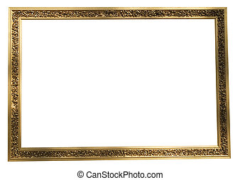 museum frame - woodend frame isolated on white