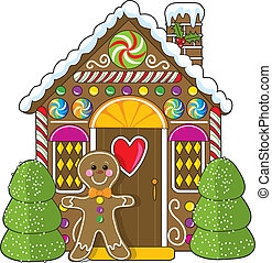 Gingerbread House and Man - A cute little decorated...