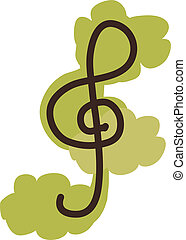 icon treble clef  - icon treble clef