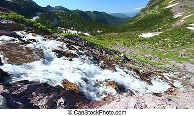 Sprague Creek Cascades Montana - Cascades of Sprague Creek...