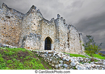 Medieval era castle in Greece - Medieval era castle of...