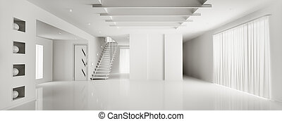 Interior of modern white apartment