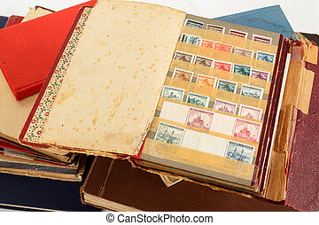 philatelic stamp collection albums