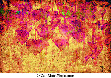 Heart on Grange background - Heart on Grange background, an...