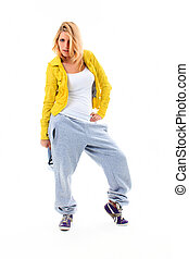 Hip Hop Girl - The beautiful girl odty in style of hip-hop...