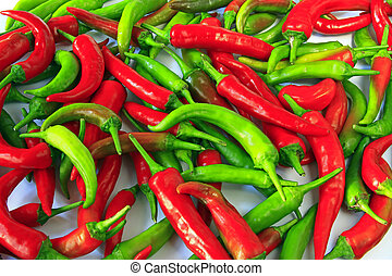 Chilis - Red and green chilis (Capsicum annuum)