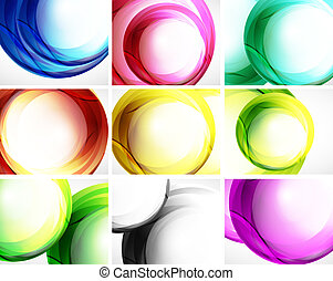 Set of swirl backgrounds