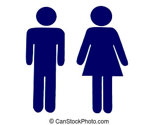Toilet Sign - Sign Indicating Women's And Men's Toilets