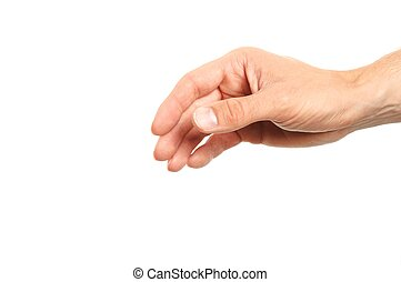 body part - human hand reaching for something isolated on...