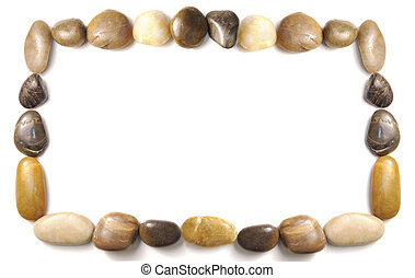Pebbles border - assorted pebbles forming and border over...