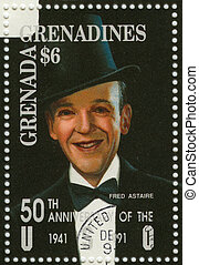 GRENADA - CIRCA 1991 : stamp printed in Grenada with Fred...