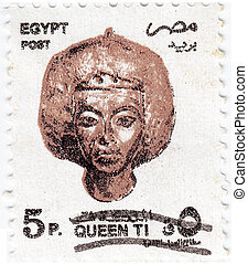 EGYPT - CIRCA 2000 : stamp printed in Egypt shows Queen Tiye...