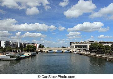 Pont de Bercy on the river Seine in Paris.