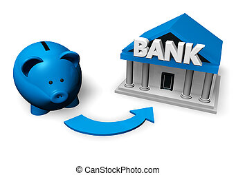 Savings And Investment Concept - Savings and investment...