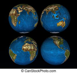 3d earth on a black background
