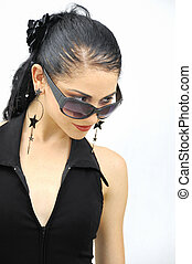 Hispanic model with sunglasses