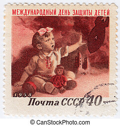 RUSSIA - CIRCA 1958 : Stamp printed in Russia show...