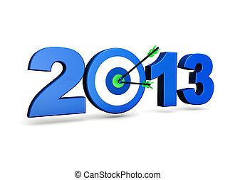 nuevo, año, 2013, meta