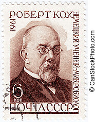 RUSSIA - CIRCA 1961 : stamp printed in RUSSIA shows Heinrich...