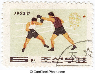 KOREA - CIRCA 1963 : post stamp printed in Korea shows...