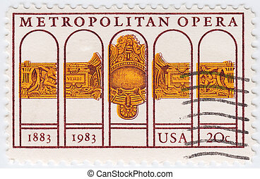 USA - CIRCA 1983 : stamp printed in USA shows dedicated to...