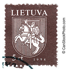 LITHUANIA CIRCA 1994: Stamp printed in Lithuania shows old...