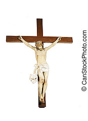 Jesus on the cross - Figure of Jesus Christ on the cross -...
