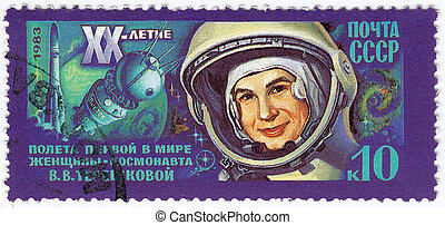 USSR - CIRCA 1983 : stamp printed in the USSR shows...