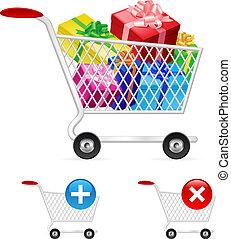 Lleno, compras, carrito