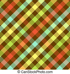 Bright Plaid Pattern - Plaid background pattern in bright...