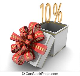 3d 10% discount concept