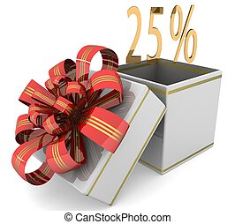 3d 25% discount concept