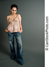 Get your Lean On! - a cool hispanic woman leans like a chola...