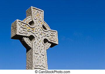 Celtic cross at St Moluag's Church