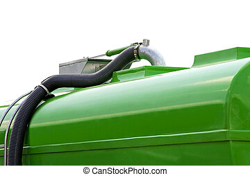 Cistern - Green cistern with hose for industrial use