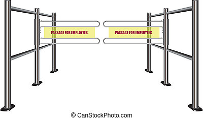 Passage for employees - Turnstile with a passage for...