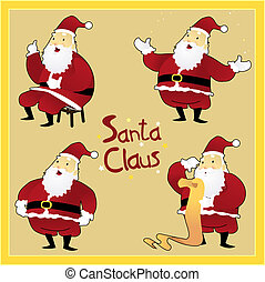Santa Claus_Christmas Greetings_stock