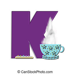 "Alpha Cup of Joe K - K, in the alphabet set ""Cup of Joe"" ,..."