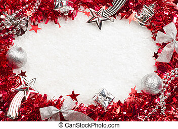 Christmass red and silver frame